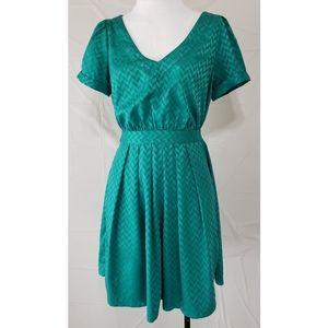 Forever 21 Emerald Green Vintage Dress